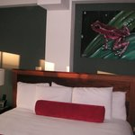 Our room with the local art work.