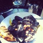 mussels were fabulous (ask for double garlic bread if splitting)