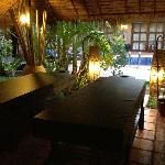 poolside massage space