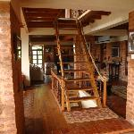 Main house - living area and staircase
