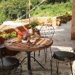 Terrace and morning breakfast