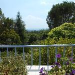 une vue de la terrasse