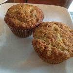 Banana Muffins with Pear and Coconut