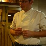 Euon, the chef explaining some of his creations
