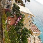 View of a villa in Positano.