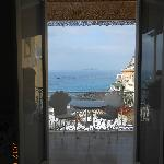 View through the doors of our room