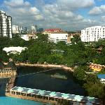 view of Sunway Lagoon water park from 19th floor