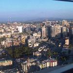View from the space needle: Hotel is in lower left corner.