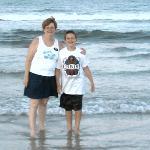 Jackie & Cody on Flagler beach, across the street from Si Como No Inn!