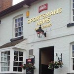 The Sportsmans Arms, main entrance, on Burwardsley Rd.