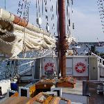 Looking towards the bow from midships on the Schooner Manitou