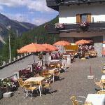 terrazza del bar dell'albergo