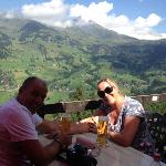 Refreshments overlooking Grindelwald