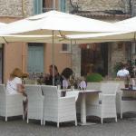 Les Lavandes outside tables