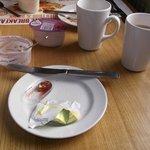 Enjoying a healthy Continental breakfast