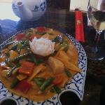scallops & green beans dish--fabulous sauce!!