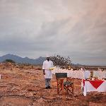 Breakfast, Sundowners or Tsavo weddings at Roaring Rocks.