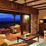 All the spacious ensuite rooms have their own verandas, some overlooking the waterhole, some the