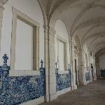 The cloisters with blue & white ceramic tiles