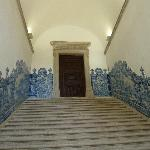 Stairways lined with ceramic tiles