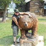 Bear in front of Pahaska