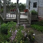 The deck/garden with hummingbird views
