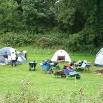 Camp site almost set up