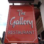 The Gallery Restaurant sign