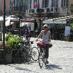 Enjoying the bikes