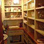 Pantry to grab wine glasses and other untensils as needed