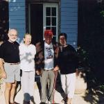 Yours truly, Poppy and Pierre Salinger, and my wife Fay