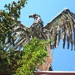 Eagle Sculpture atop the chimmney