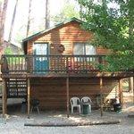 Each cabin has private deck/porch
