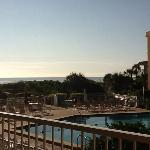 View from our room, St Augustine Beach