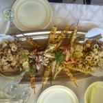 secondo di pesce fritto e alla griglia