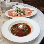tartare and carpaccio at lunch