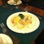 Seafood Fettucini Alfredo