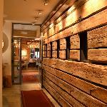 corridoio dalla reception al ristorante