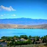 View of Topaz Lake from Hotel Rooms