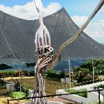 Art sculpture by the restaurant
