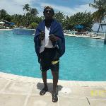 My husband at the pool