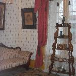 Living room, photo of Mrs. Whaley