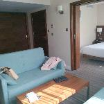The bedroom/lounge suite