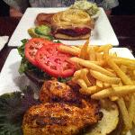 Capone Burger and Cajun Chicken Sandwich