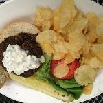 Beautifil Lamb Burger with Tzatziki