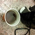 Plain water run through the coffee maker (no coffee in it