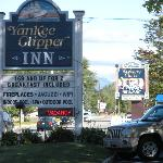 front view with sign