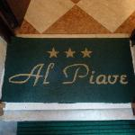 The floor mat on entering the lobby