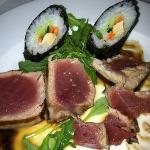 grilled tuna (requested rare). delicious!
