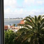 Vista da janela do quarto.
